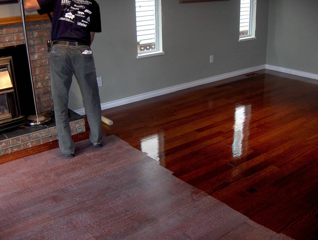 Wood floor oiling services